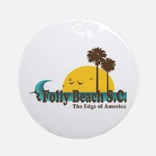 Folly Beach SC Ornament (Round)