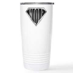 SuperWolf(metal) Stainless Steel Travel Mug