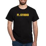 Black T-Shirt with FAT Orange logo centered