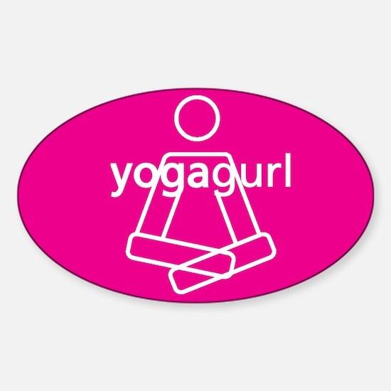 Yogagurl Graphic Bumper Stickers
