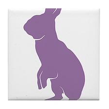 Purple Mini Rex Tile Coaster
