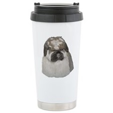 Broken Blue Tort Fuzzy Lop Travel Mug