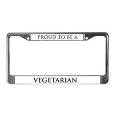Proud Vegetarian License Plate Frame