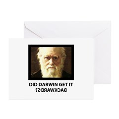 ID Darwin Backwards Greeting Card (10 Pk)