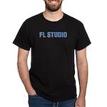 Black T-Shirt with FAT blue FL Studio centered