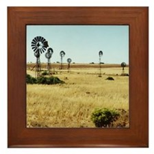 Outback Windmills, SA Framed Tile