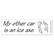 Ice Climber's Bumper Bumper Sticker