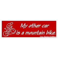 Mountain Biker's Bumper Bumper Sticker