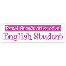 Grandmother of a English Stud Bumper Bumper Sticker
