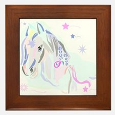 Colorful Horse2 Framed Tile