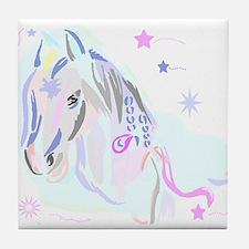 Colorful Horse2 Tile Coaster