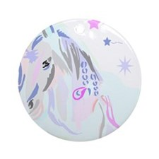 Colorful Horse2 Ornament (Round)