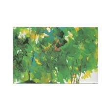 Watercolor Trees Rectangle Magnet