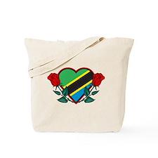 Heart Tanzania Tote Bag