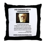 ID Darwin Backwards Throw Pillow