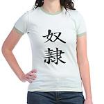 Slave - Kanji Symbol Jr. Ringer T-Shirt