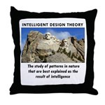 ID Mt. Rushmore Throw Pillow