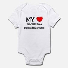 My Heart Belongs To A PERSONNEL OFFICER Infant Bod