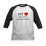 My Heart Belongs To A PERSONNEL OFFICER Kids Baseb