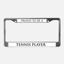 Proud Tennis Player License Plate Frame