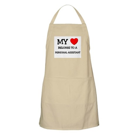 My Heart Belongs To A PERSONAL ASSISTANT BBQ Apron