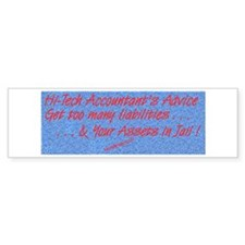 Hi-Tech Accountant Bumper Bumper Sticker