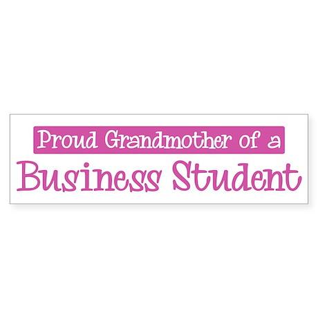 Grandmother of a Business Stu Bumper Sticker