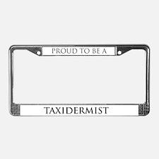 Proud Taxidermist License Plate Frame