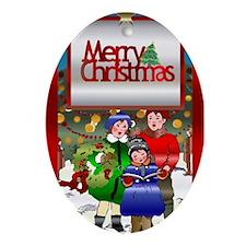 Carolers Oval Ornament