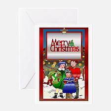 Carolers Greeting Card