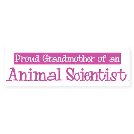 Grandmother of a Animal Scien Bumper Sticker