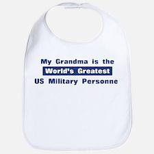 Grandma is Greatest US Milita Bib