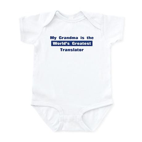 Grandma is Greatest Translato Infant Bodysuit