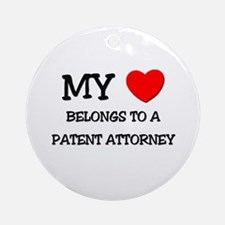 My Heart Belongs To A PATENT ATTORNEY Ornament (Ro