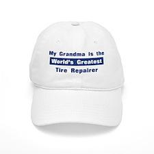 Grandma is Greatest Tire Repa Baseball Cap