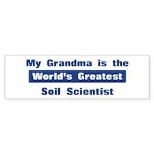 Grandma is Greatest Soil Scie Bumper Bumper Sticker