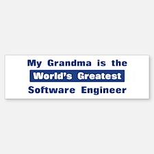 Grandma is Greatest Software Bumper Bumper Bumper Sticker