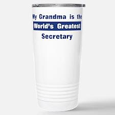 Grandma is Greatest Secretary Travel Mug