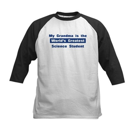 Grandma is Greatest Science S Kids Baseball Jersey