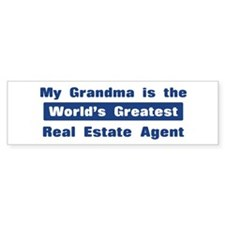 Grandma is Greatest Real Esta Bumper Bumper Sticker