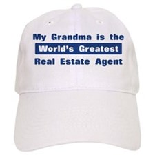 Grandma is Greatest Real Esta Baseball Cap