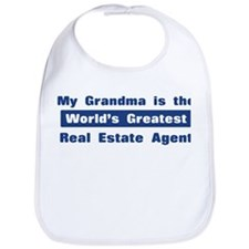 Grandma is Greatest Real Esta Bib
