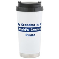 Grandma is Greatest Pirate Travel Mug