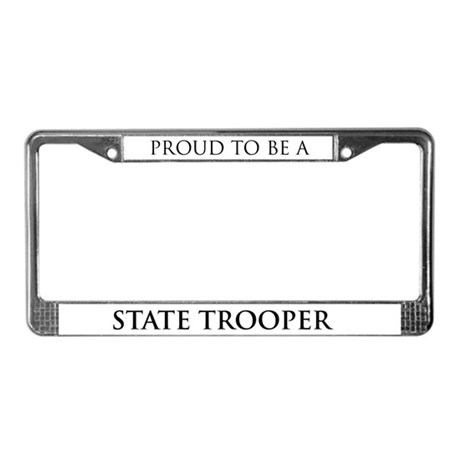 Proud State Trooper License Plate Frame