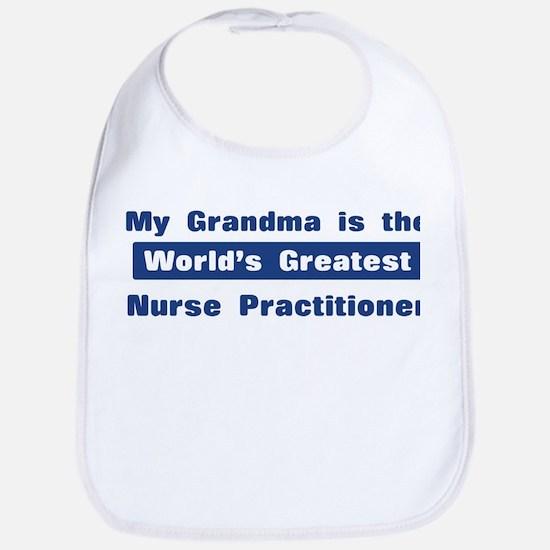 Grandma is Greatest Nurse Pra Bib