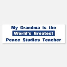 Grandma is Greatest Peace Stu Bumper Bumper Bumper Sticker