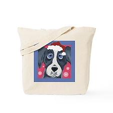 Greyhound Santa Tote Bag