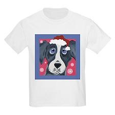 Greyhound Santa Kids T-Shirt