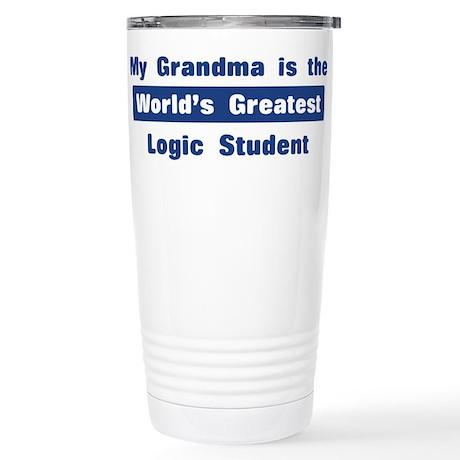 Grandma is Greatest Logic Stu Stainless Steel Trav
