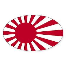 Japan Flag Oval Decal